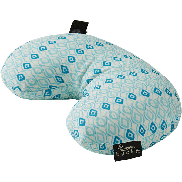 Compact Neck Pillow with Snap & Go - Ikat Diamond