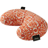 Compact Neck Pillow with Snap & Go - Damask