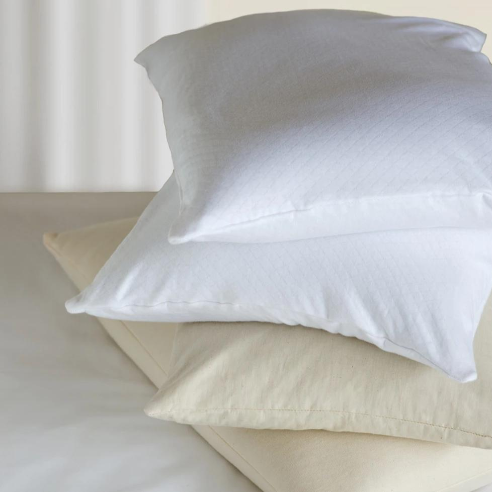 Organic Cotton Buckwheat Bed Pillow White Bucky