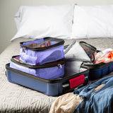 4 Piece Travel Organizer Cube Set - Purple