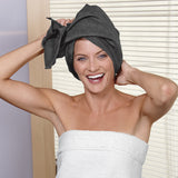 Quick Dry Hair Turban - Charcoal, Home & Spa - Bucky Products