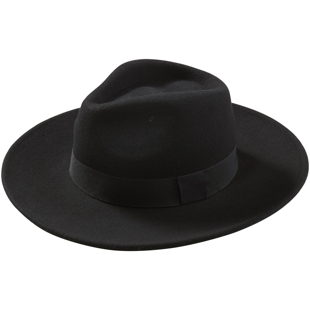 Black Hilary Wool Panama Hat