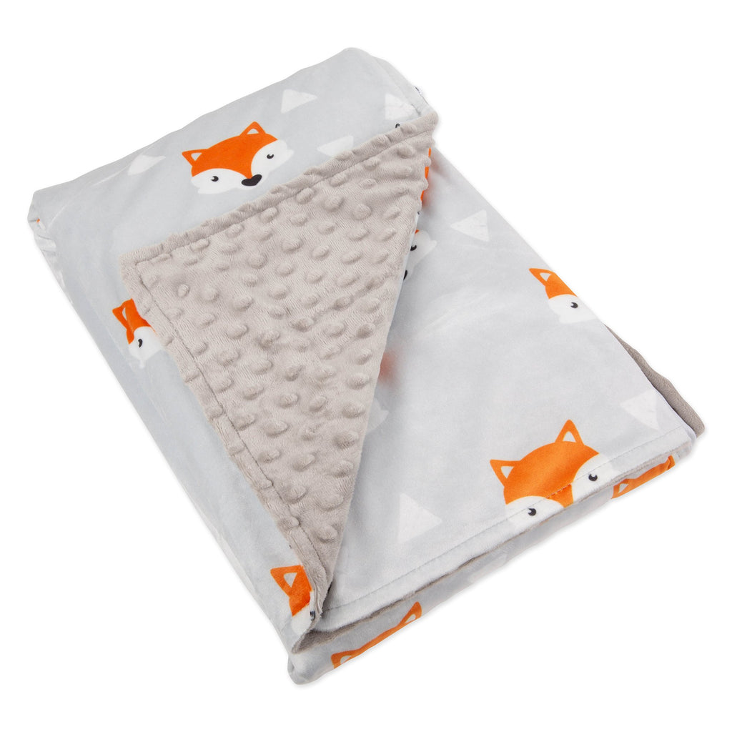 "41"" x 60"" Minky Dot Sensor Weighted Blanket Cover - Little Fox"