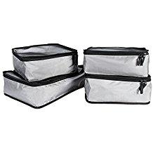 4 Piece Travel Organizer Cube Set - Grey