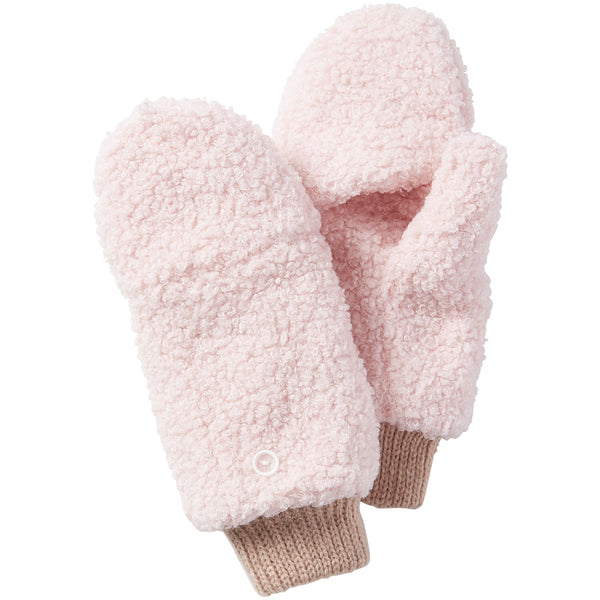 Fuzzy Bunny Mittens - Pink