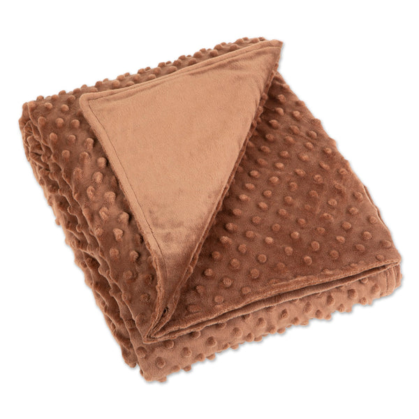 "60"" x 80"" Minky Dot Sensor Weighted Blanket Cover - Chocolate"
