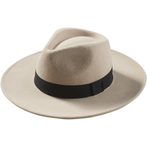 Sand Hilary Wool Panama Hat