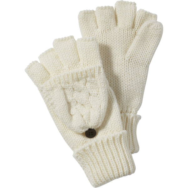 White Dove Cableknit Mittens