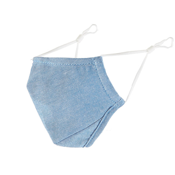 Cloth Face Mask - Blue Chambray