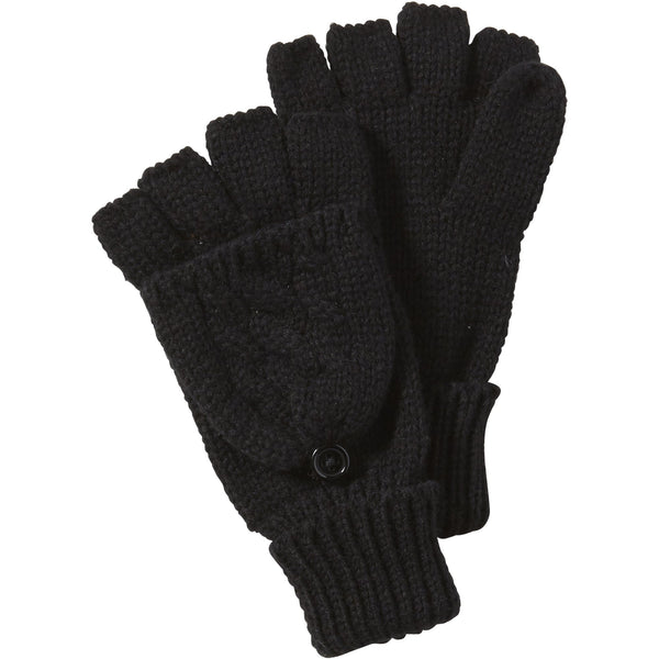Black Dove Cableknit Mittens