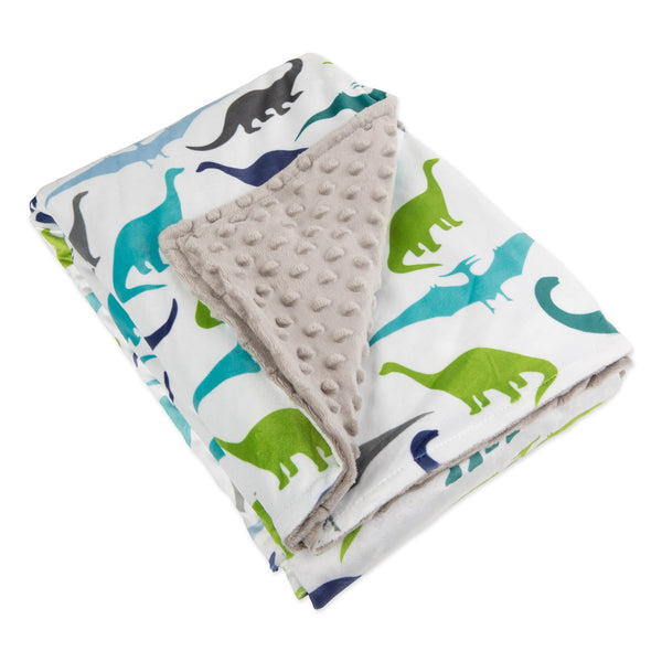 "41"" x 60"" Minky Dot Sensor Weighted Blanket Cover - Dinosaur"