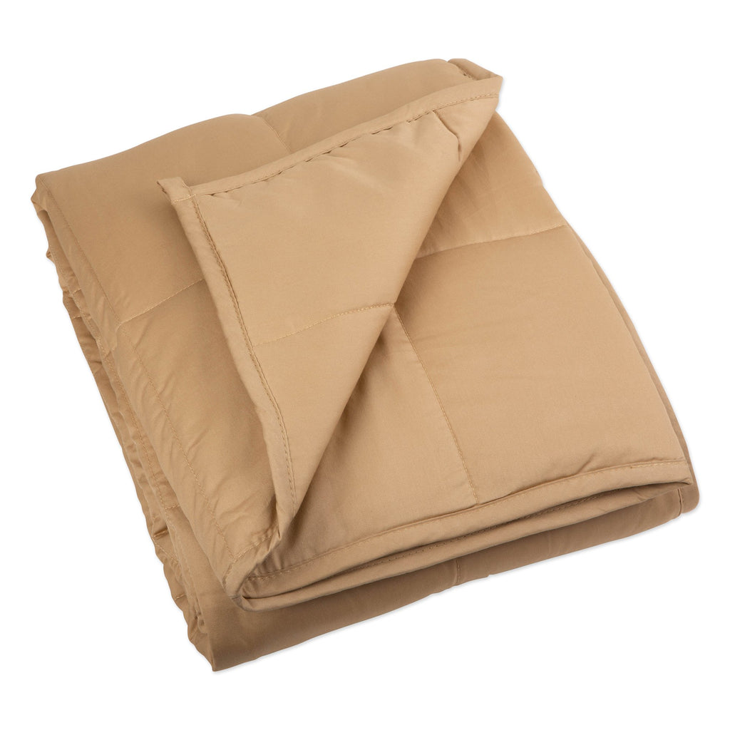 "60"" x 80"" Weighted Blanket - Taupe"