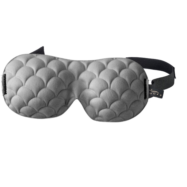 Ultralight Sleep Mask - Gray Scallop