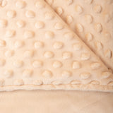 Taupe Minky Dot Sensor Weighted Blanket Cover - 60X80""