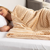 Taupe Minky Dot Sensor Weighted Blanket Cover - 41X60""
