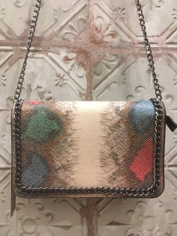 Stella McCartney inspired Snake Print Stella Bag - Multi