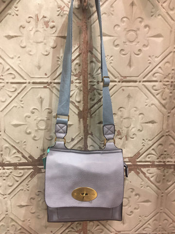 Mulberry Inspired Satchel - Sky Blue