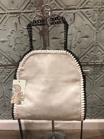 Stella McCartney style chain bag - medium white