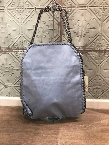 Stella McCartney inspired chain bag large light blue