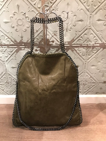 Stella McCartney inspired style bag large khaki green
