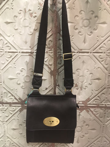 Mulberry Inspired Satchel - Black