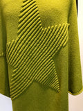 Super Soft Star Poncho - Lime