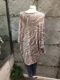 Zebra print soft knit tunic top made in Italy soft knit