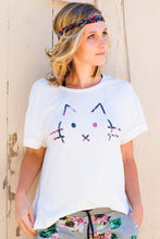 Kitty Ruffle Back Tee