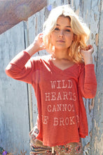 """Wild Hearts"" V Neck Swing Tee"