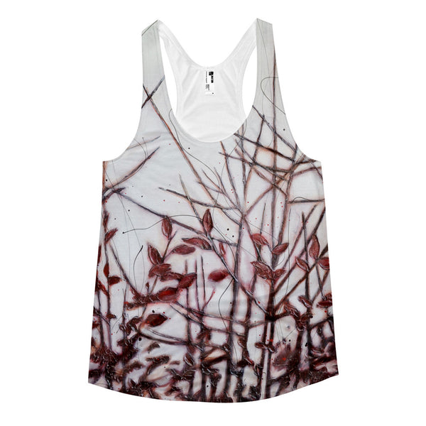 Leaves of Red - Women's racerback tank