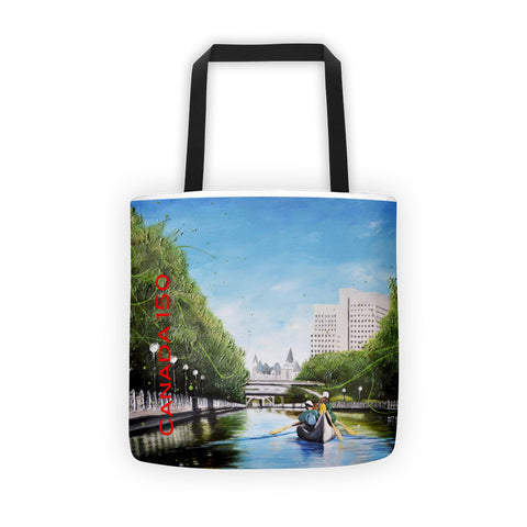 Canoeing on the Canal - 150 - Tote