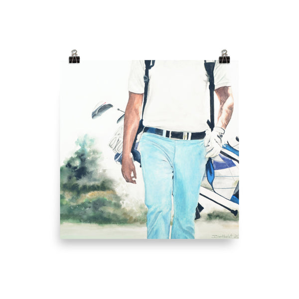 Walking golfer - Print