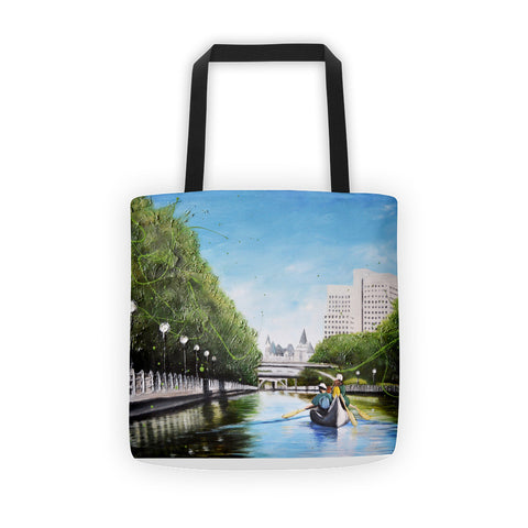 Canoeing on the Canal - Tote