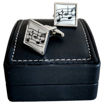 Silver-Plated Cufflinks - Wavy Music