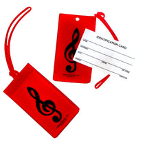 Musical Instrument Name Tag - Treble Clef (Various Colours)