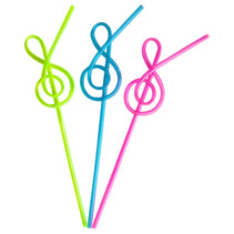 Treble Clef Straw (Various Colours)