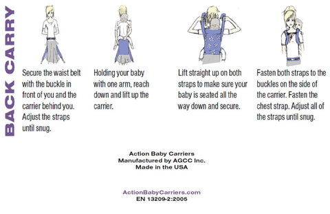 Back Carry in an Action Baby Carrier