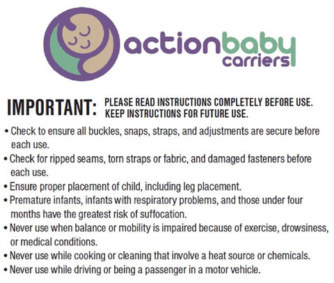 Action Baby Carriers Safety Information