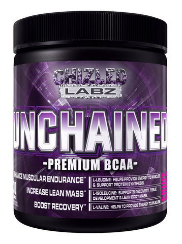 Best BCAA Supplement, UNCHAINED - Premium Branch Chained Amino Acids for Serious Athletes & Trainers. Delicious Pre Post & Intra Workout Drink Assist in Fat Loss Lean Mass & Recovery. (Fruit Punch)