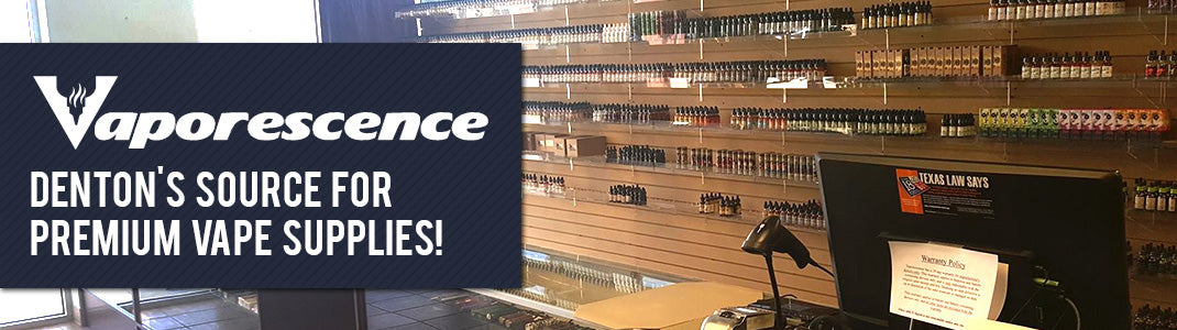 denton vape shop vaporescence