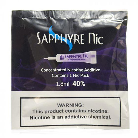 Sapphyre Nic Concentrated Unflavored Nicotine Additive 1.8ml