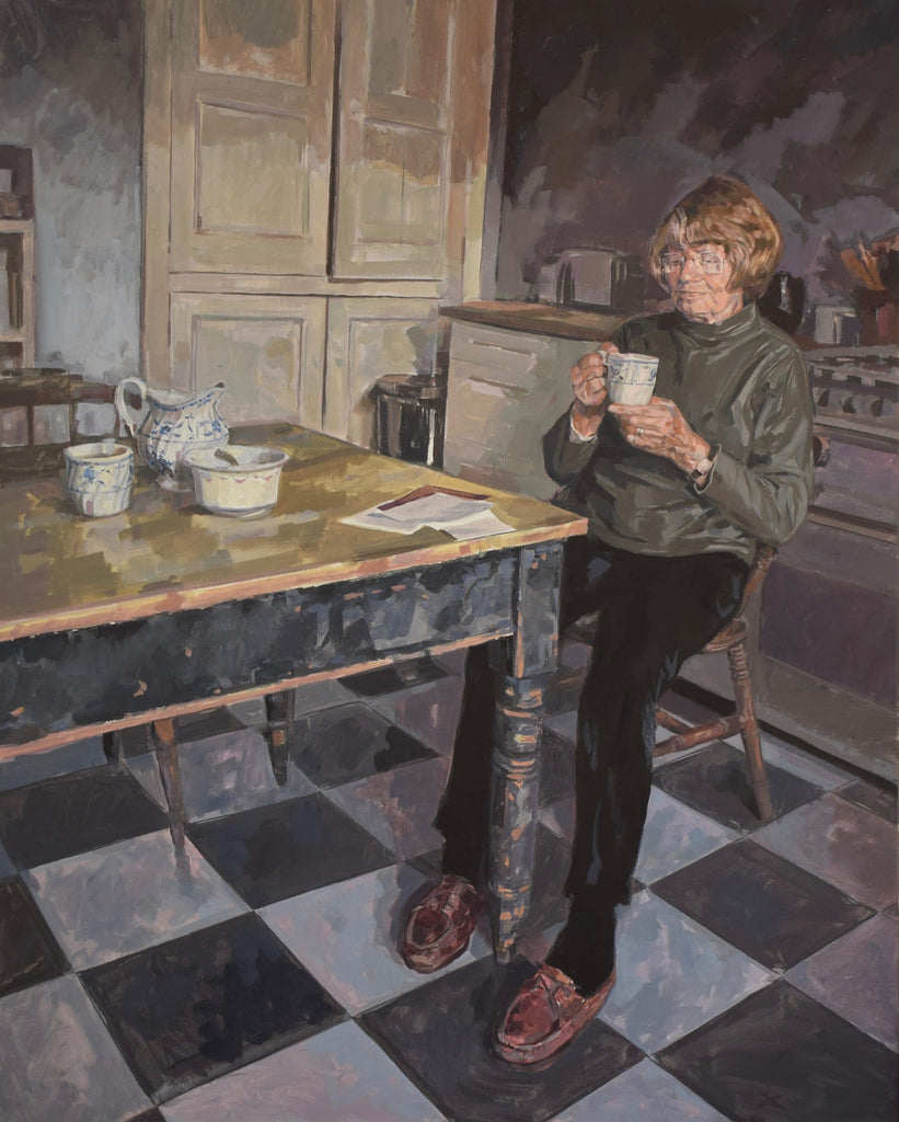 Painting Eileen Ellis RDI (Royal Designer) for the Royal Portrait Society Award 2017