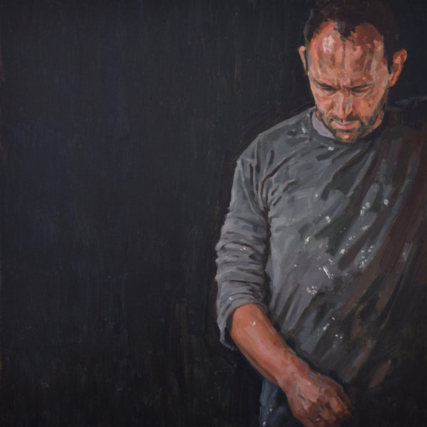 Greg Mason Self Portrait for Sky Arts Portrait artist of the year 2017