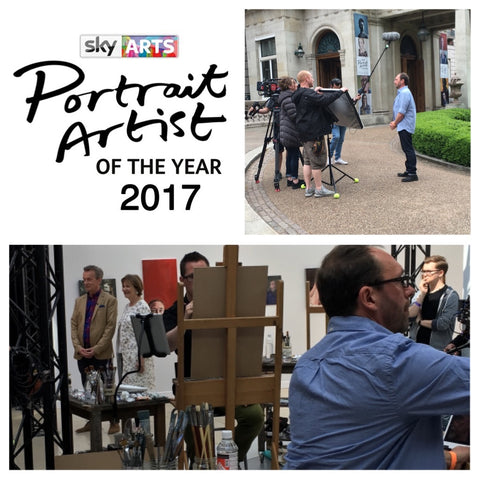 Greg Mason at Sky Arts Portrait Artist of the Year Competition 2017