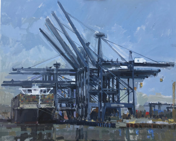 Winning Semi-Final painting by Greg Mason in Felixstowe with Sky Arts