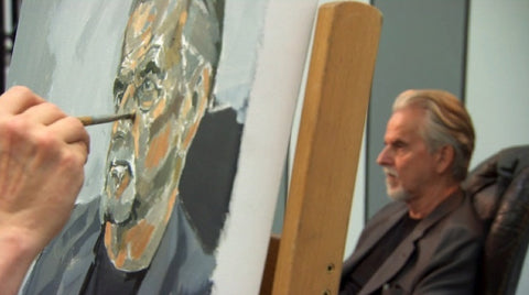 Sky Arts Portrait Artist of the Year Trevor Eve by Greg Mason