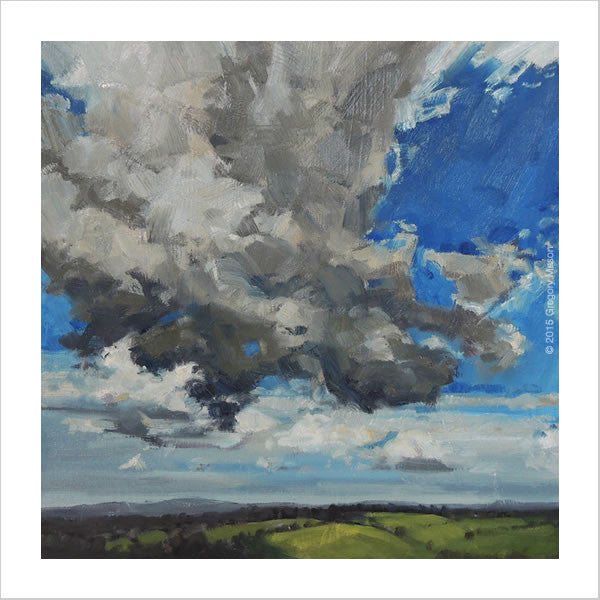 Oil Painting - Dartmoor clouds over Wonson Village