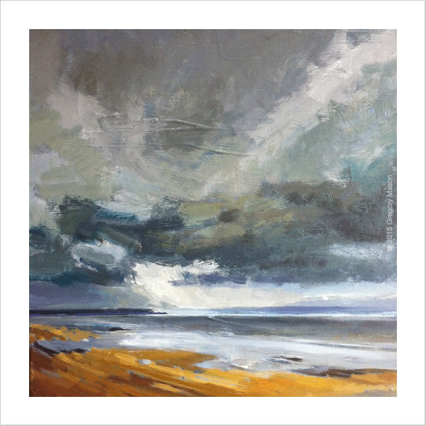 Saunton Sands painted by artist Gregory Mason