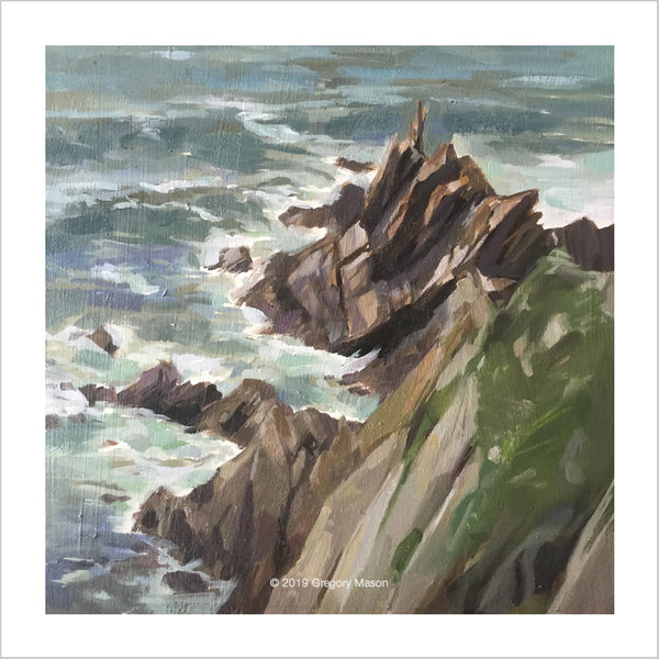 Greg Mason painting of Hope Cove Devon