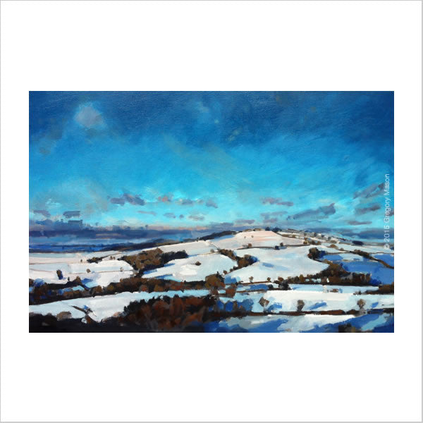 Gregory Mason Painting of snow scene in Devon UK